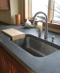 undermount sink concrete countertop stained concrete countertops kitchen contemporary with modern