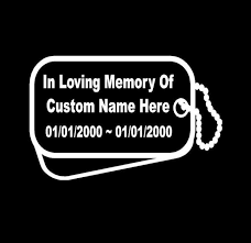 in loving memory dog tags dog tags in loving memory decal sticker custom sticker shop