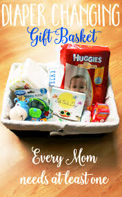chagne gift baskets changing basket diapers and gift