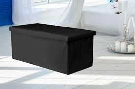 faux leather ottoman storage seat 4 colours