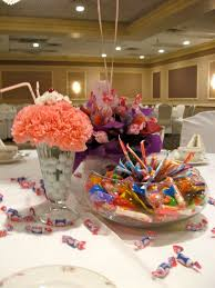 Candy Themed Centerpieces by 129 Best Sweet 16 Images On Pinterest Sweet 16 Sundae Glasses