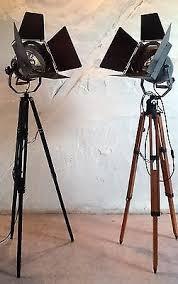 Industrie Lofts Tripod Stativ Steh Lampe Film Scheinwerfer Theater Spot Industrie
