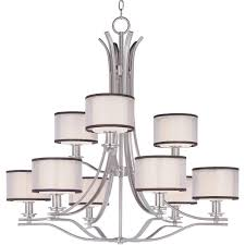 Maxim Chandeliers Maxim Lighting Orion 9 Light Satin Nickel Chandelier 23036swsn