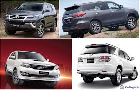 fortuner specs toyota fortuner old vs new comparison