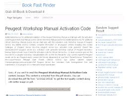 40 peugeot workshop manual activation code