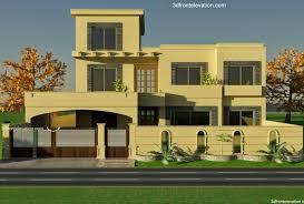 3d front elevation com 1 kanal house plan for 9 k1 wapda town 3d