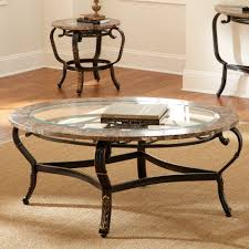 glass coffee table sets sale 2 set round shape from steel and with