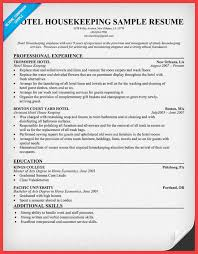 Sample Of Housekeeping Resume by Housekeeping Resume Sample Memo Example