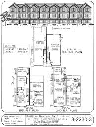 Duplex Plans With Garage Building Designs By Stockton 15 U0027 Narrow Row House With Garage