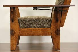 sold arts u0026 crafts mission oak antique 1905 morris chair or