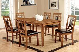 transitional dining room sets amazon com furniture of america lazio 7 transitional