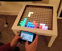 bluetooth controlled arduino led coffee table arduino projects