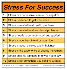 Table Of 4 by Discover How To Make Bad Stress Into Good Stress For Health And