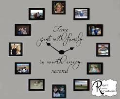 time spent with family decal time spent with family clock