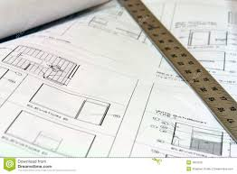 Building Plans by Blue Print Building Plans With Ruler Stock Photography Image