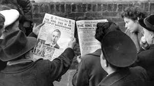 announcing the death of king george vi bbc news