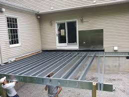 Steel Deck Framing In New Jersey Decks 4 Cabin Pinterest Deck