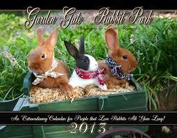 rabbit garden garden gate rabbit park calendar 2013