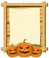 halloween border vector blank board in halloween theme royalty free cliparts vectors and