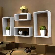bathroom stunning modern floating wall shelves white box ideas
