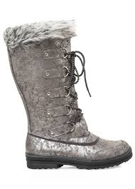 ugg womens boots wide lace up fur top boot wide calf boots stewart 068