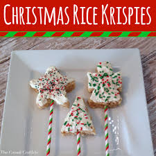 christmas rice krispies dipped in white chocolate christmas rice