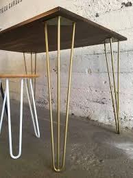 desk height for 6 2 set of 4 hairpin legs golden powder coated 7 16 steel rods your