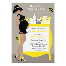 bumblebee baby shower bumble bee baby shower invitations announcements zazzle