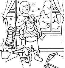 clothes winter coloring pages winter coloring pages of