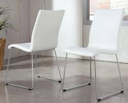 White Leather Dining Chairs Modern White Dining Chairs Ultimate Dining Room Decoration Gorgeous