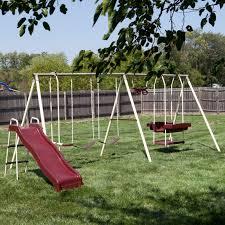 Metal Backyard Playsets by Xdp Recreation Rising Sun Metal Swing Set Hayneedle