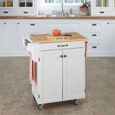 Jcpenney Kitchen Towels by Home Styles Create A Cart White Kitchen Cart With Natural Wood Top