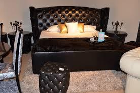 Royal Bed Frame Royal Black Ermine Leather Bed