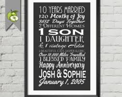 10 year wedding anniversary gift wedding anniversary subway print printable 15th anniversary