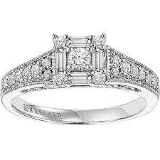 walmart white gold engagement rings keepsake sincerity 1 2 carat t w certified 10kt white