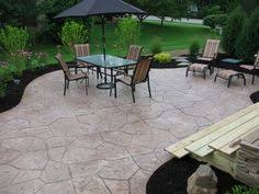 Concrete Backyard Patio by Stamped Concrete This Is Really Great Would Love To Have A Patio