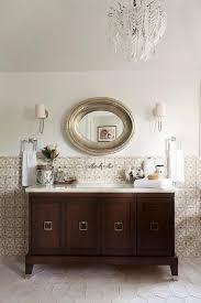 mediterranean style bathrooms mediterranean style bathroom with oval silver mirror