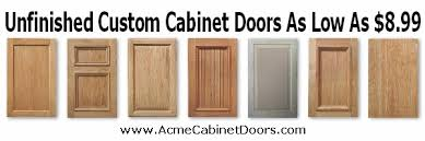 Custom Unfinished Cabinet Doors Acme Cabinet Doors Offers Top Of Line Custom Cabinet Doors