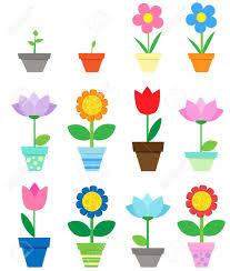 Clipart Vase Of Flowers Fleurs En Pots Clipart Clip Art Libres De Droits Vecteurs Et