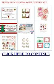printable christmas gift certificate microsoft word free