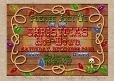 Cowboy Christmas Party Invitations - western cowboy christmas party invitations cowboy christmas