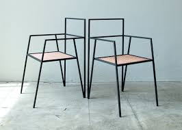 alpina furniture by ries is made from minimal steel shapes