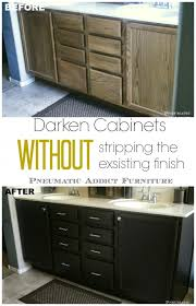 How To Restore Kitchen Cabinets Pneumatic Addict Darken Cabinets Without Stripping The Existing