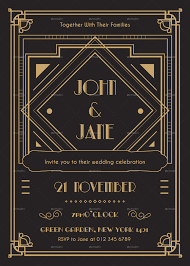 deco wedding invitations deco wedding invitation by infinite78910 graphicriver