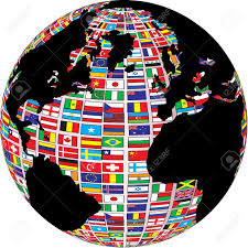 World Maps With Countries by World Map With Country Flags On It Royalty Free Cliparts Vectors