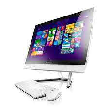 ordinateur de bureau tactile pc de bureau lenovo all in one c40 30 i3 4go 500go 1go dédiée blanc