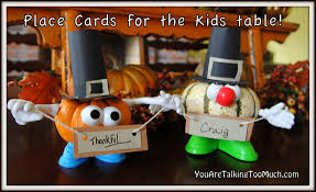thanksgiving card for kids thanksgiving place card holders for the kids table you are