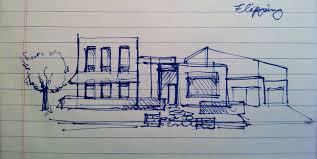 Modern House Drawing by Moderndream Sketch Jpg