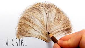 tutorial how to draw realistic blonde hair with colored pencils
