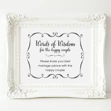 bridal shower words of wisdom wedding advice sign words of wisdom sign wedding shower